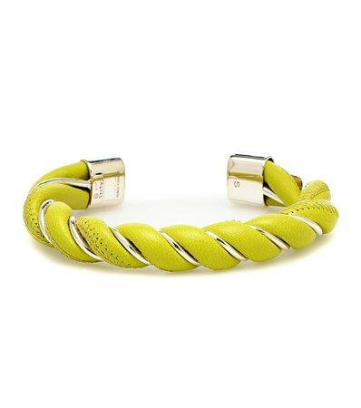 Bottega Veneta - Leather and sterling silver bracelet | Mytheresa
