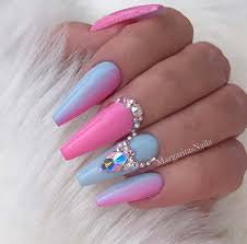 pink and blue nails - Google Search