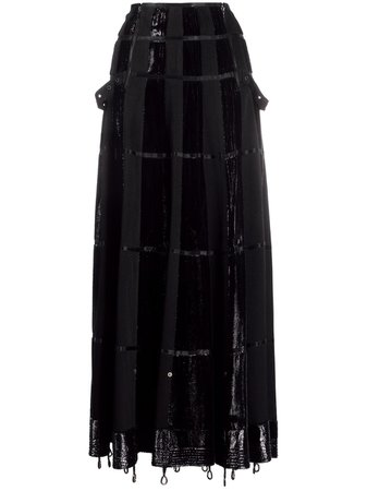Christian Dior 2000s pre-owned Panelled Maxi A-line Skirt - Farfetch