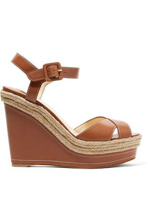 Christian Louboutin | Almeria leather wedge sandals | NET-A-PORTER.COM