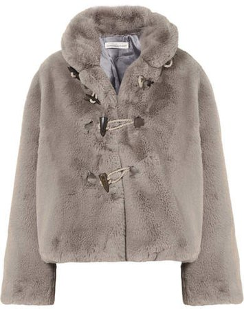 Faux Fur Jacket - Gray