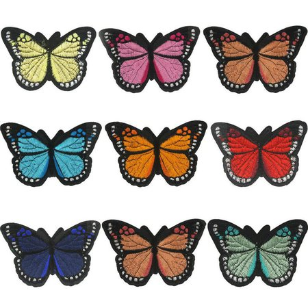 accessories attic Butterfly Embroidery Sew Iron On Patch Badge Fabric Bag   Etsy