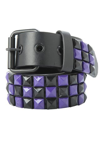 hot topic black and purple studded belt