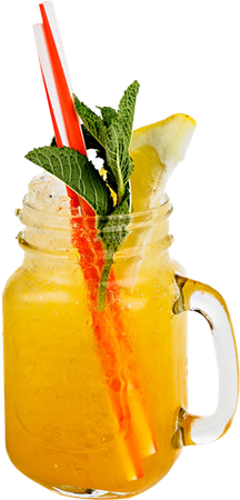 Mango, Peach and Passionfruit Cooler Mocktail