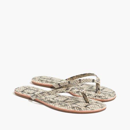 Faux-snakeskin easy summer flip-flops
