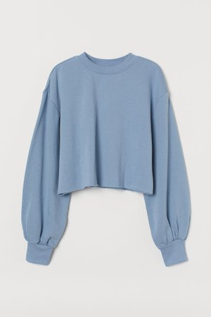 Cropped Sweatshirt - Blue