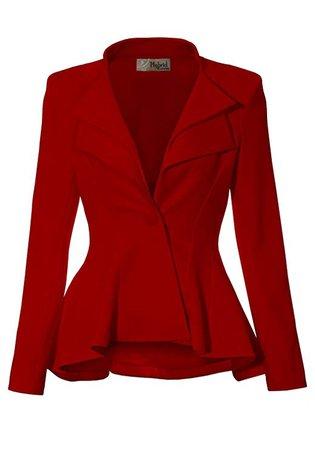 Burgundy blazer suit jacket