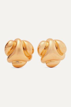 Gold Gold-tone clip earrings | Kenneth Jay Lane | NET-A-PORTER