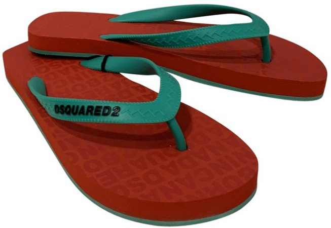 Red Rubber Sandals