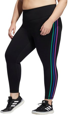Pride Believe This 2.0 3-Stripes 7/8 Tights