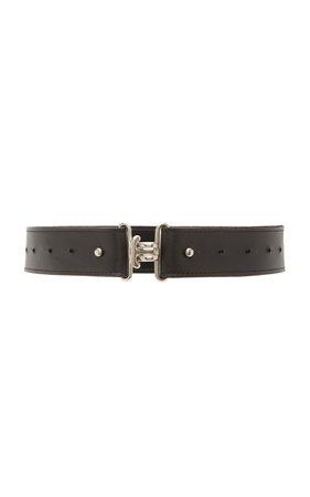 Clyde Large Link Leather Belt Size: M