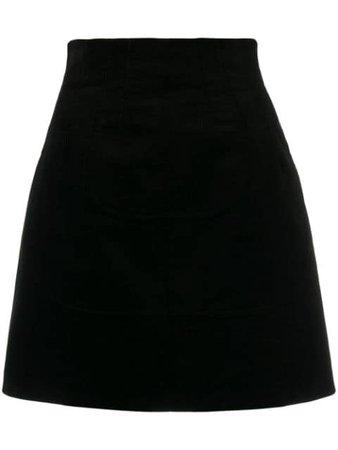 N°21 Corduroy Effect Short Skirt N2MC1020620 Black | Farfetch