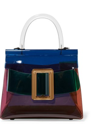 BOYY | Karl buckled color-block PVC and leather tote | NET-A-PORTER.COM