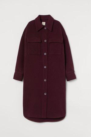 Wool-blend Coat - Red