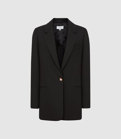 Saxon Black Oversized Blazer – REISS