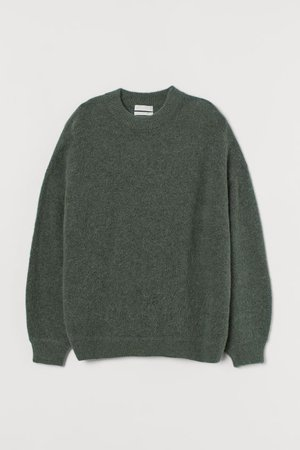 Wool-blend Sweater - Green - Ladies | H&M US