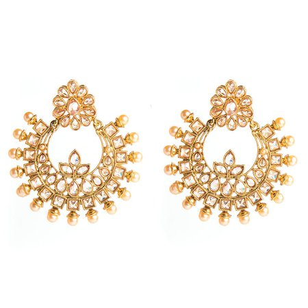 gold earings - Google Search