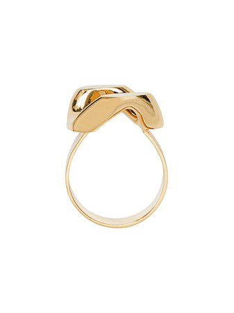 Burberry Gold-plated Chain-link Ring | Farfetch.com
