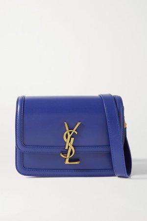 Solferino Small Leather Shoulder Bag - Blue