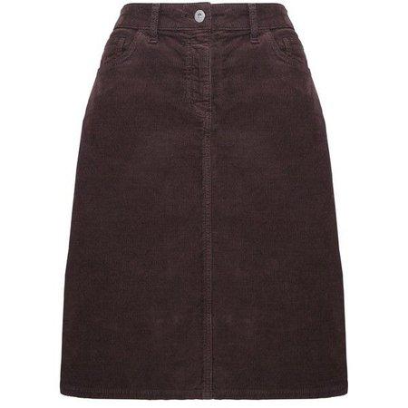 John Lewis Corduroy Skirt , Dark Brown