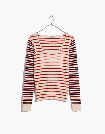 Stillman Pullover Sweater in Stripe Mix