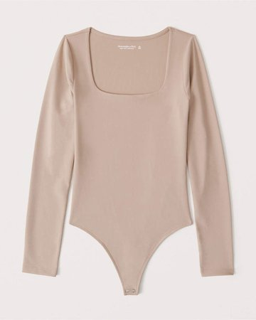 Women's Long-Sleeve Seamless Squareneck Bodysuit | Women's New Arrivals | Abercrombie.com