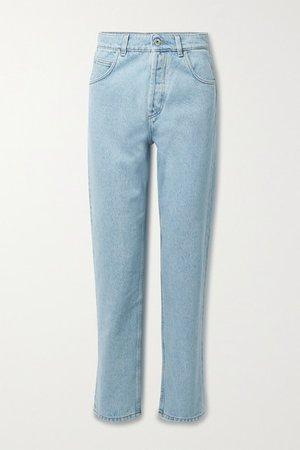 High-rise Tapered Jeans - Light denim