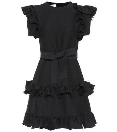 Silk and virgin wool dress