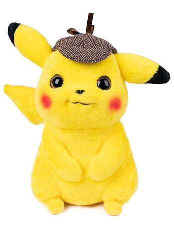 "Amazon.com: Vabao Detective Pikachu Pokem Plush Stuffed Animal Toy - 9.5"": Toys & Games"