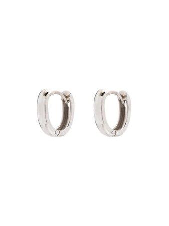 Marla Aaron 18kt white gold Base hoop earrings E1WG - Farfetch