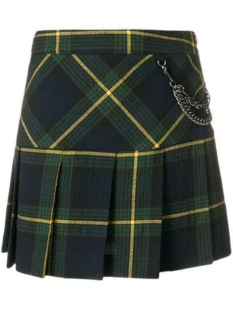 Boutique Moschino Plaid Pleated Skirt - Farfetch