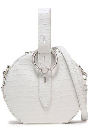 White Croc-effect leather shoulder bag | REBECCA MINKOFF |