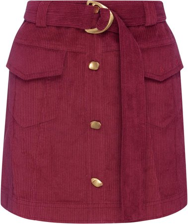 Aje Rebellion Corduroy Mini Skirt