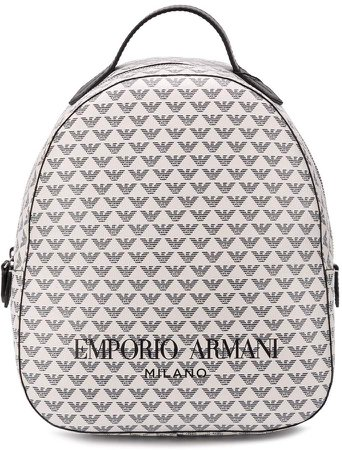 logo print backpack