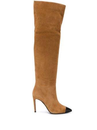 Grey Mer knee-high Suede Boots - Farfetch