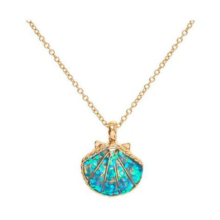 shell necklace gold abalone