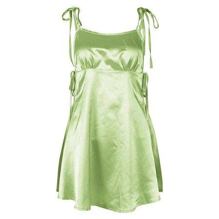 Satin Strap Mini Dress