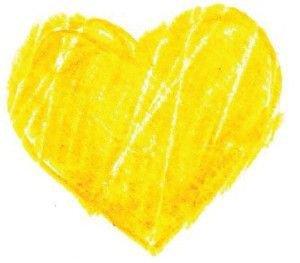 Yellow Crayon Heart