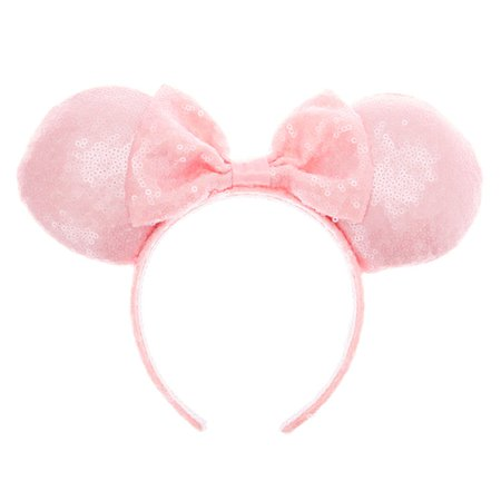 Disney® Sequin Minnie Mouse Ear Bow Headband - Pale Pink | Claire's
