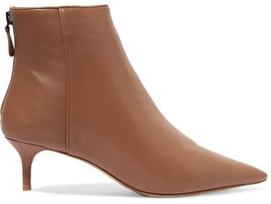 Kittie Leather Ankle Boots - Tan