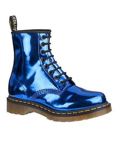 Doc Martens Metallic Blue Leather Boots