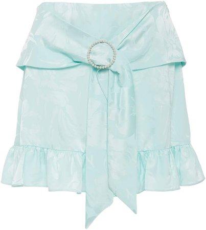 Art Dealer Olivia Ruffled Mini Skirt Size: XS