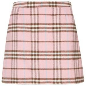 Cameo Rose Pink Tartan Mini Skirt