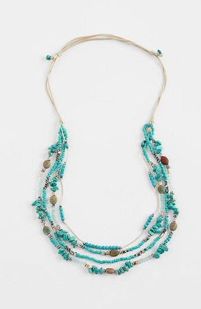 Turquoise Skies Beaded-Strands Necklace | JJill