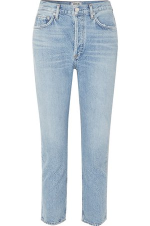AGOLDE | Riley cropped organic high-rise straight-leg jeans | NET-A-PORTER.COM