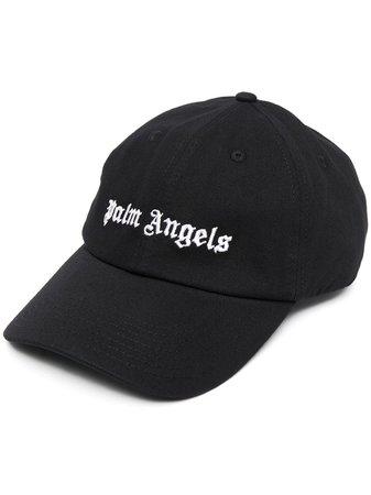 Palm Angels embroidered logo cap black PMLB003R21FAB0021001 - Farfetch