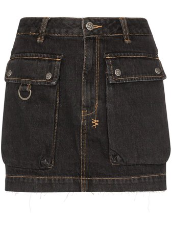 Ksubi Krew Denim Mini Skirt