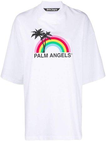 rainbow logo print T-shirt