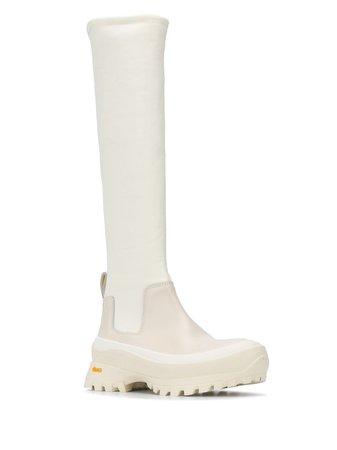Jil Sander Briam knee-high rainboots - Farfetch