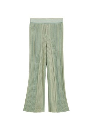MANGO Stripped ribbed trousers